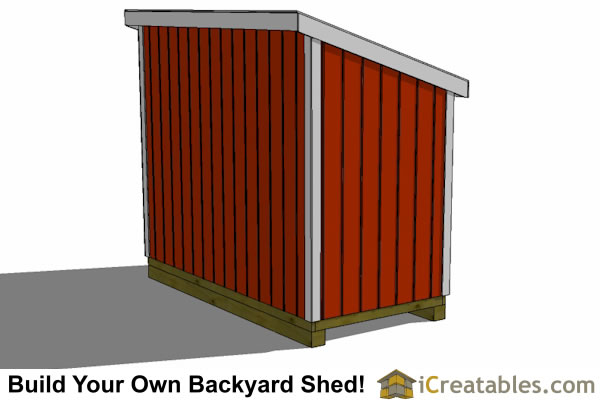 5x10 lean to shed design rear view
