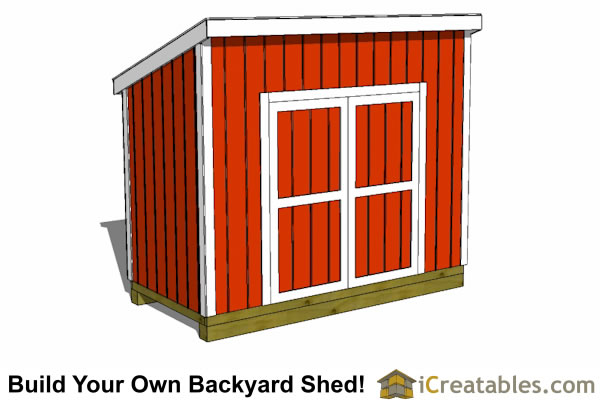 5x10 lean to shed plans door on tall wall