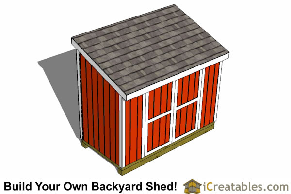 5x10 lean to shed  plans top view