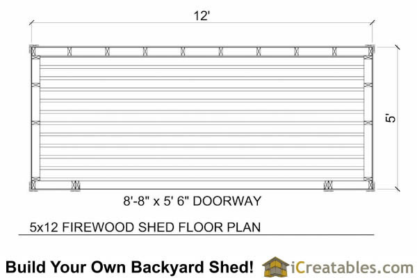 5x10 firewood shed plans floor plan