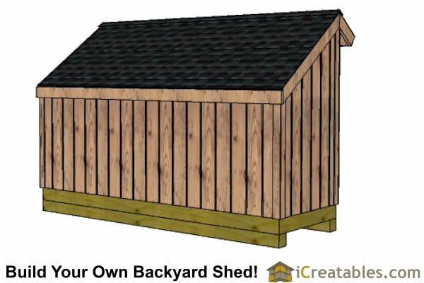 5x12 firewood shed right rear