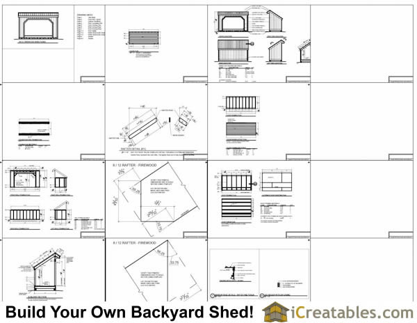 5x12 Firewood Shed Plans