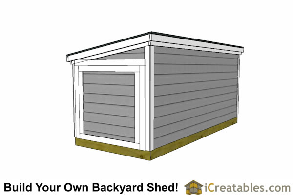 5x12 lean to shed door on end