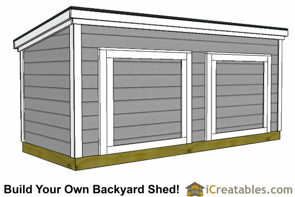 5x12 lean to shed doors on tall wall