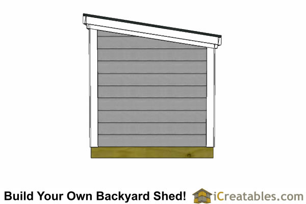 5x12 lean to shed top