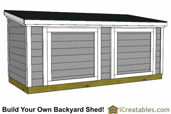 5x12 lean to shed plans 6 feet tall front