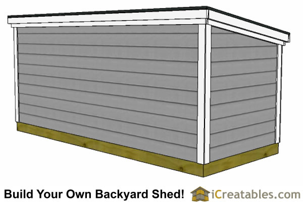 5x12 lean to shed rear