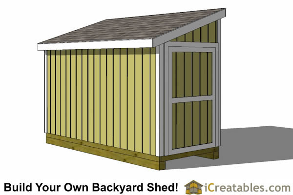 5x16 lean to shed with door on end