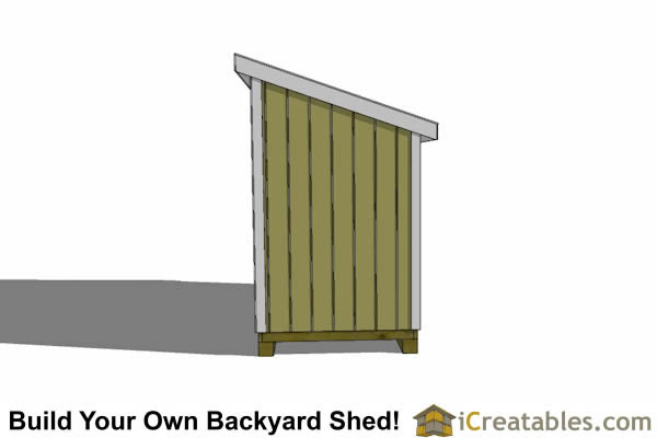 5x16 lean to shed plans right side