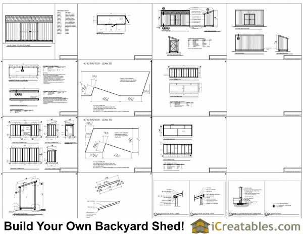5x16 lean to shed plans 5x16 shed plans for Free shed design software with materials list