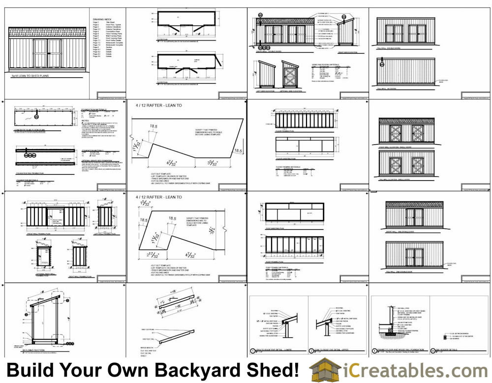 5x16 lean to shed plans example