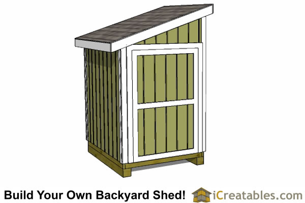 5x6 lean to shed plans door on end