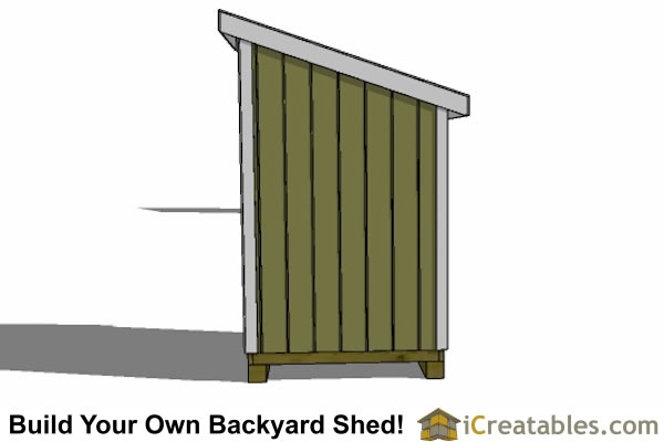 5x6 lean to shed plans left elevation