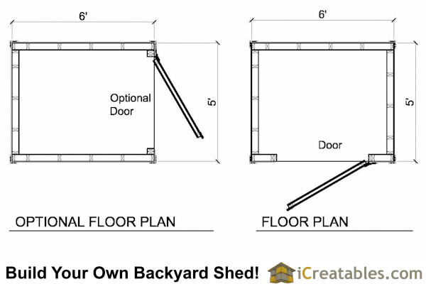 5x6 lean to shed floor plans