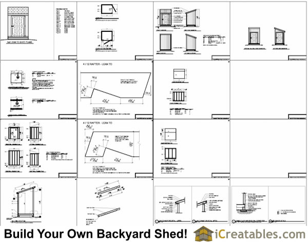 5x6 lean to shed plans