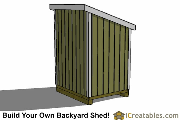5x6 lean to shed plans left rear