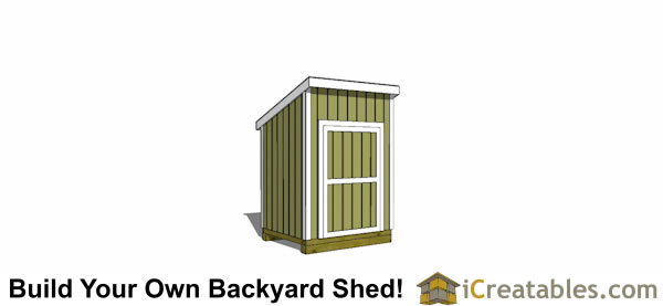 5x6 lean to shed plans door on tall wall