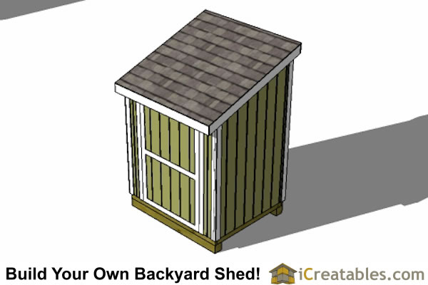 5x6 lean to shed plans top view