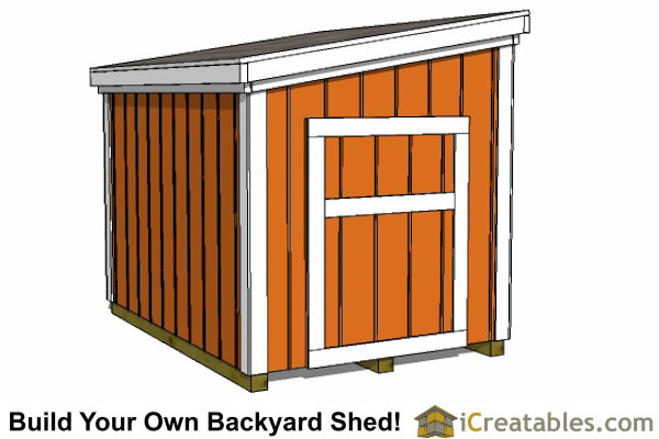 5x7 generator enclosure plans door on short wall