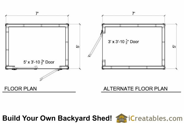 4x4 generator shed floor plan