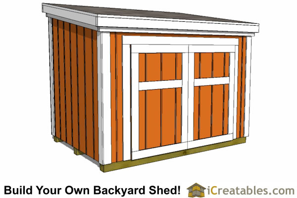 Lean To Shed Plan