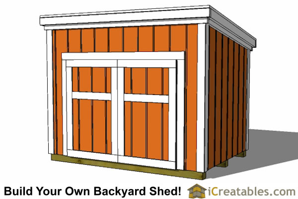 5x7 generator enclosure plans with door on tall wall