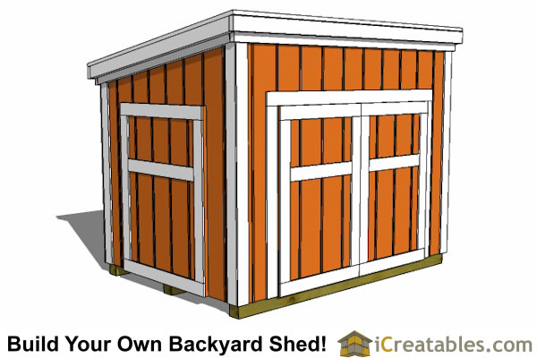 5x7 generator enclosure plans with optional doors