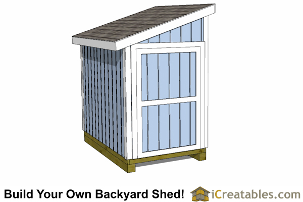 5x8 lean to shed plan door on end short wall