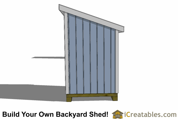 5x8 lean to shed plan end view