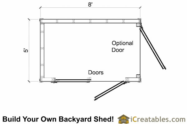 5x8 lean to shed floor plans