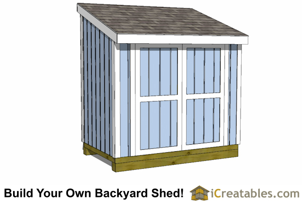 5x8 lean to shed plans with door options