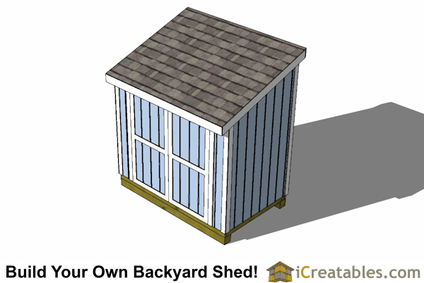 5x8 lean to shed plan top view