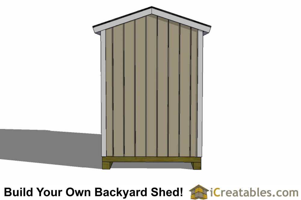 6x10 shed plans left side 6x10 shed plans front