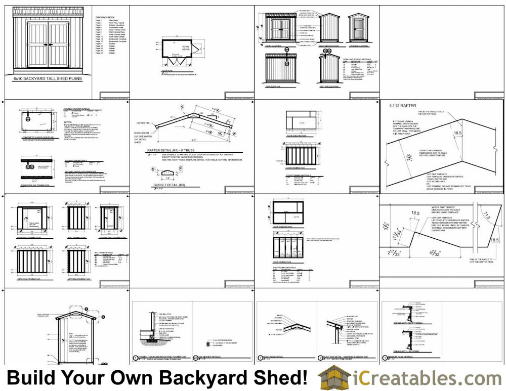 6x10 tall shed plans example