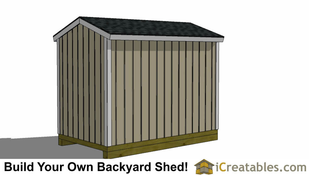 6x10 shed plans rear