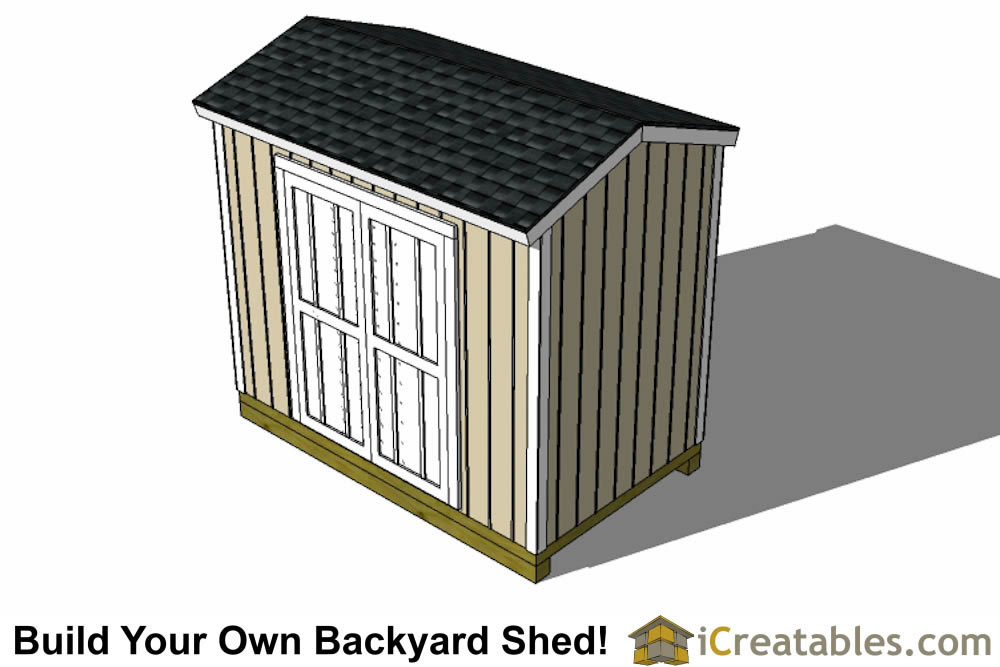 6x10 shed plans left side