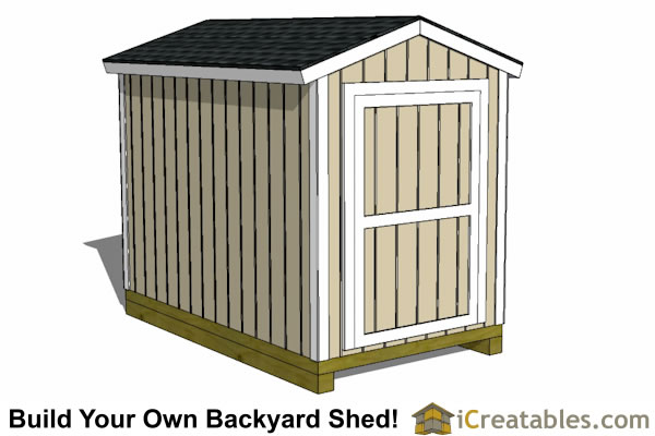 6x10 shed plans front view - Garden Sheds 6 X 10