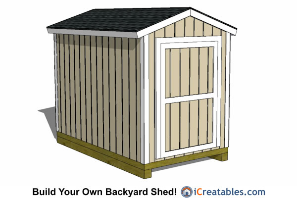 6x10 gable storage shed plans front elevation