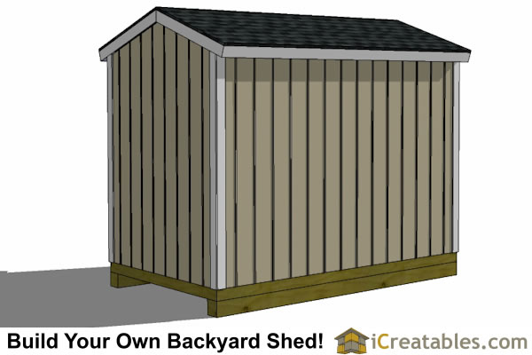 ... 6x10 Shed Plans Rear ...