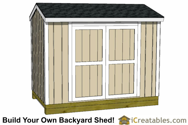 6x10 shed plans side door