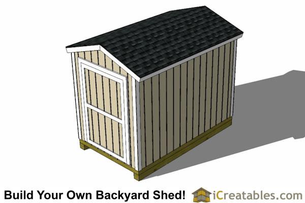 6x10 Shed Plans Left Side ...