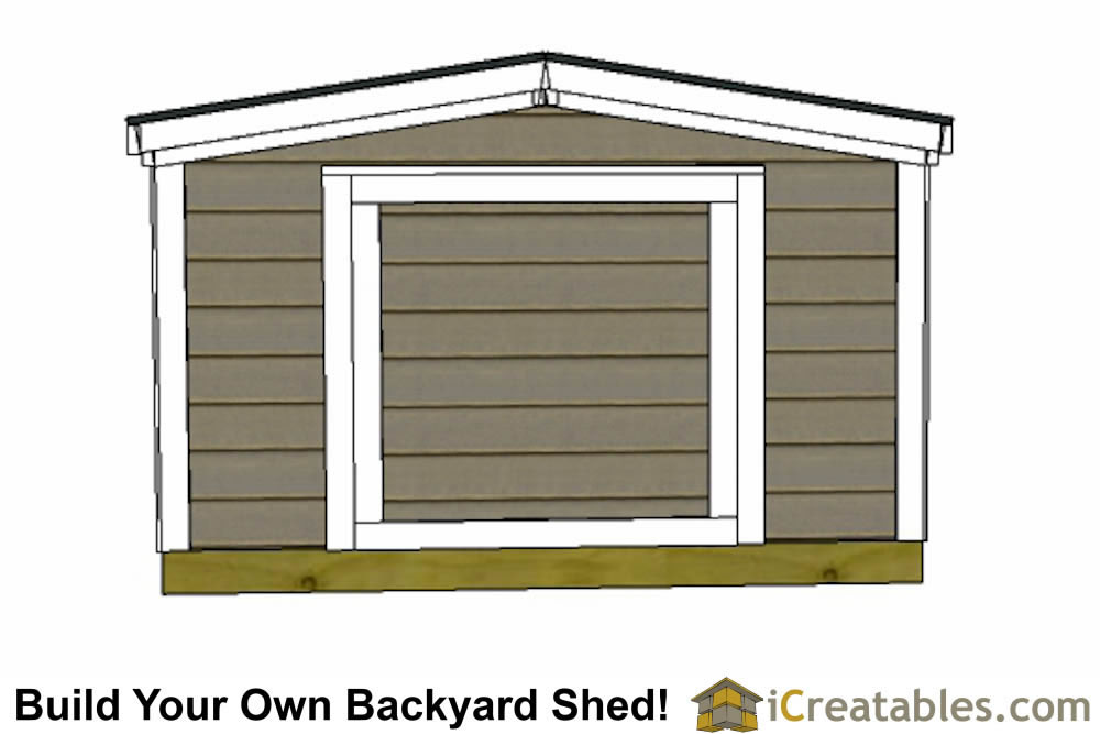 6x10 6 foot tall  shed plans front
