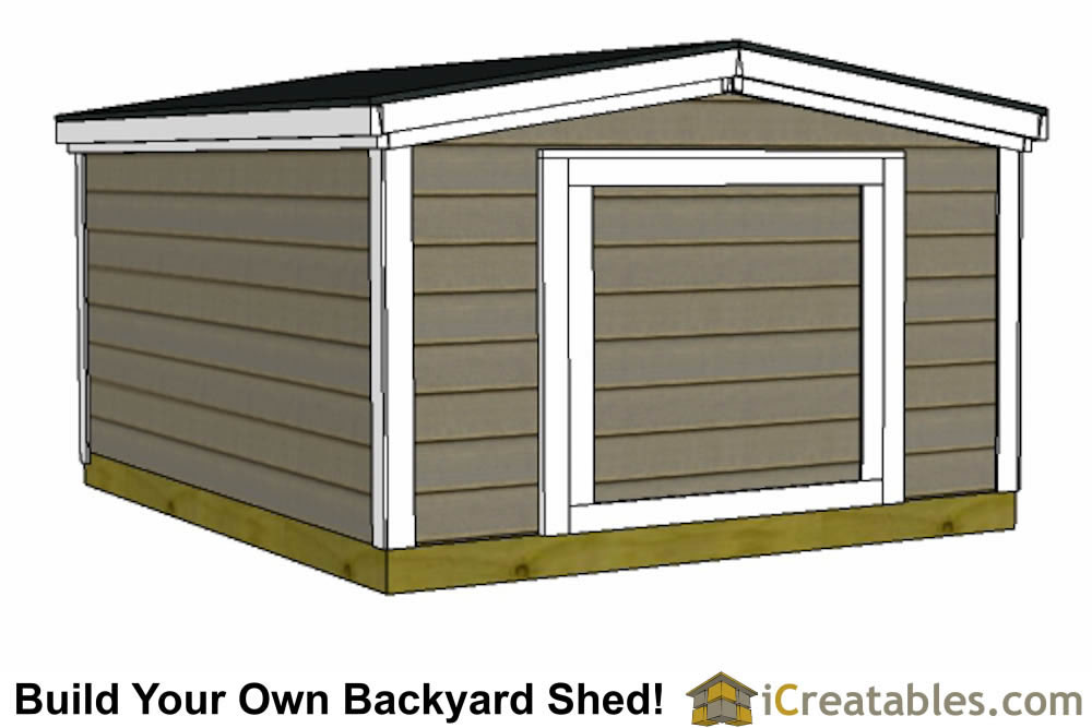 6x10 6 foot tall shed plans