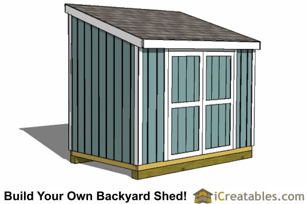 6x10 lean to shed 6x8 lean to shed