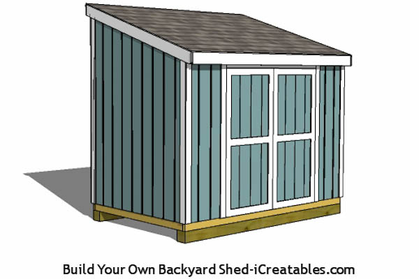 Building plans for a 6'x 10' lean to storage shed for your yard or