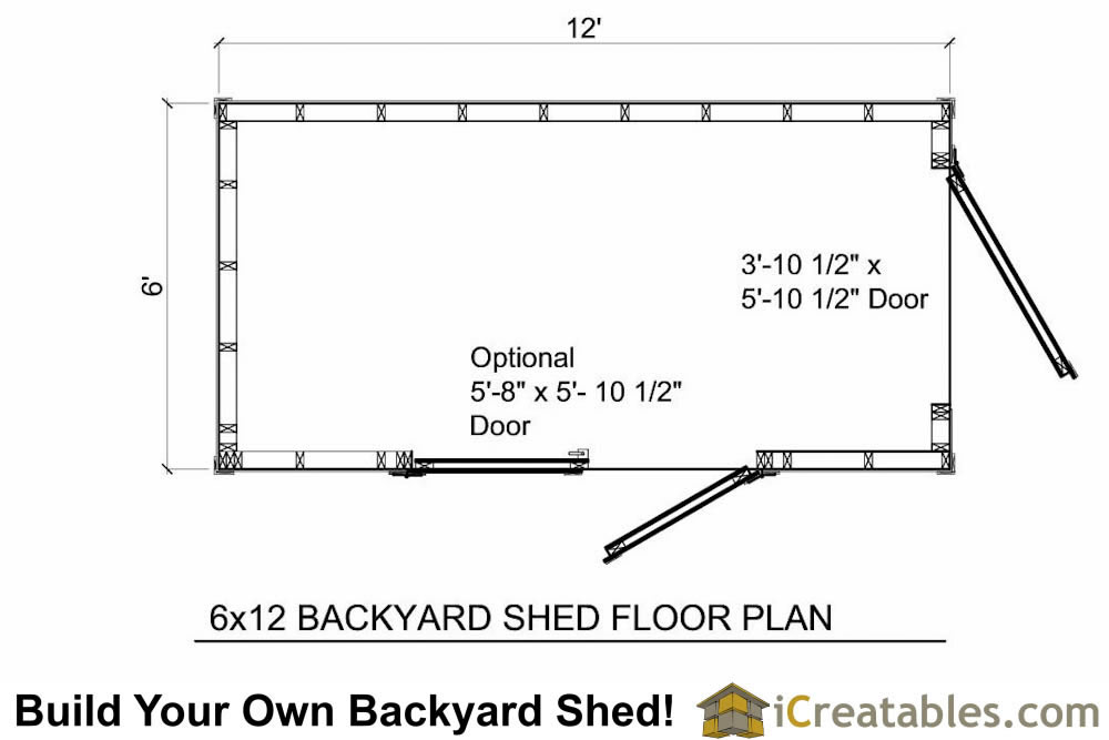 6x10 shed plans 6x10 storage shed for Shed floor plans