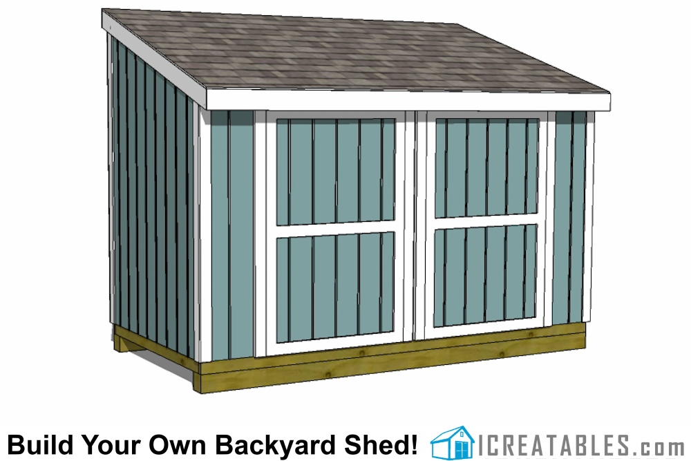 6x12 Lean To Shed Plans | 6x12 Storage Shed Plans | icreatables.com