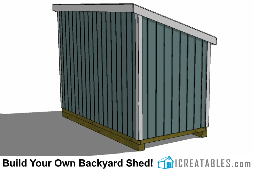 6x12 lean to shed rear