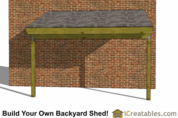 6x12 lean to shed front side
