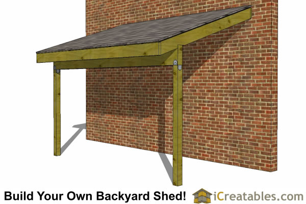6x12 lean to shed front